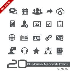 Business Network Icons -- Basics