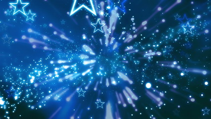 Cosmic Blue Abstract Looping Animated Background with stars