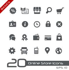 Online Store Icons -- Basics