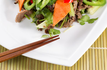 Asian Vegetable and Meat Dish