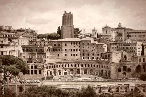 Fototapeta Rome sepia - Trajan Forum