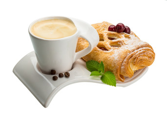 Coffee with pastry