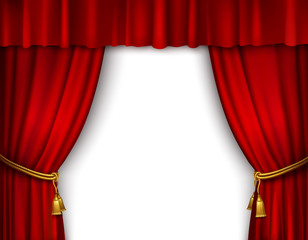 Stage curtain isolated