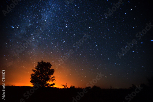 canvas print picture Dark sky