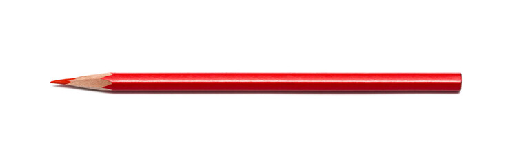Pencil red isolated on pure white background