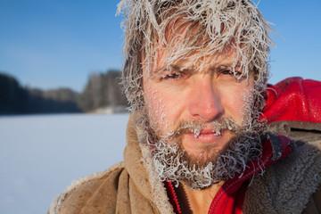Frozen man