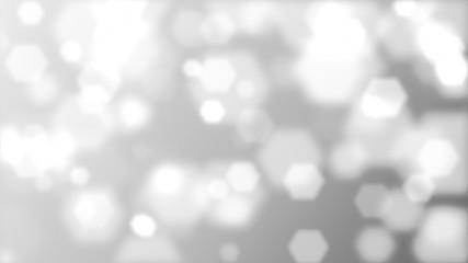 Gray background - hexagons. 4K.