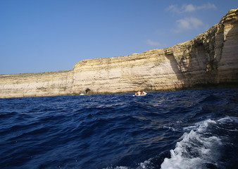Azure  Window and the grotto ,Gozo Island, Malta