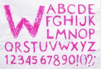 Alphabet pastel pink