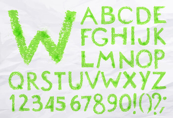 Alphabet pastel green