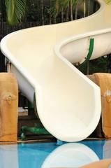 Curve slider for  swimming pool