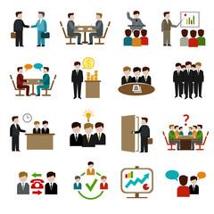 Meeting Icons Set