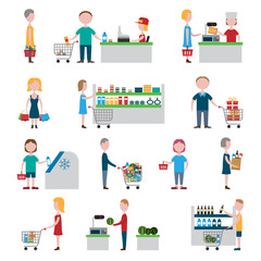 Supermarket People Set