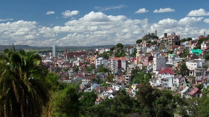 Time lapse of Antananarivo city at sunny day. Madagascar