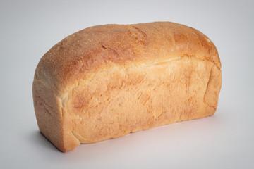 loaf of bread over grey background