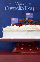 Australian traditional dessert, Pavlova meringue cake