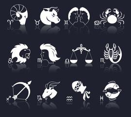 Zodiac Icons White