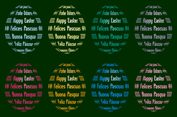 abstract easter eggs from different languages