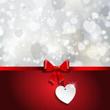 Valentines Day ribbon background