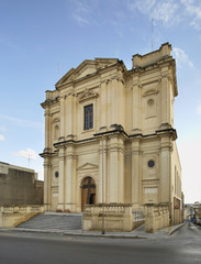Parish church in Santa Venera. Malta