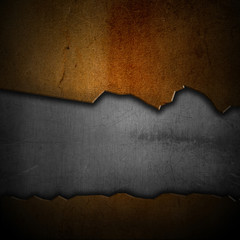 Scratched grunge metal background