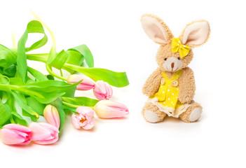 Osterhase, Tulpen
