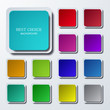 Vector modern colorful square icons set - 75815788