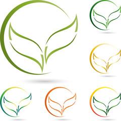 Logo, Blätter, Pflanze, Blume