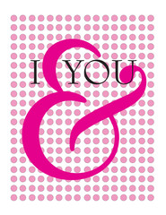 I and you,ampersand doodle vector