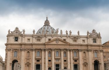 St. Peter Square, Vatican City. Beautiful building facade