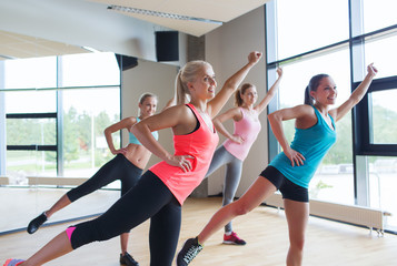 group of women ecxercising in gym