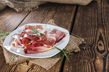 Plate with sliced Ham