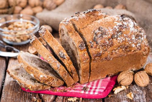 Foto op Canvas Brood Fresh baked Walnut Bread