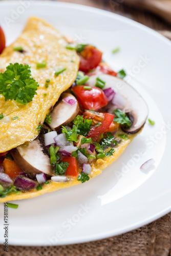 Vegetable Omelette - 75818195