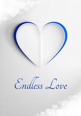 Romantyczna kartka na Walentynki z napisem 'Endless Love'