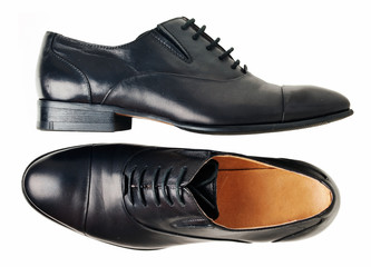 Black classic shoes isolated