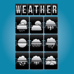 Weather design, vector illustration.