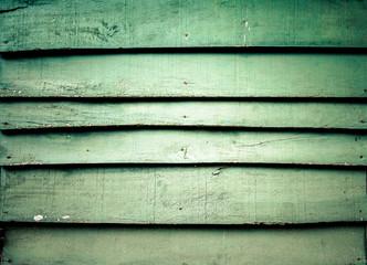 Wooden green wall