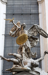 Saint Michael with gold shield and sword, Vienna