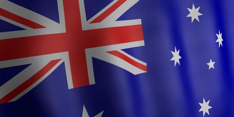 3d illustration. Australia flag.