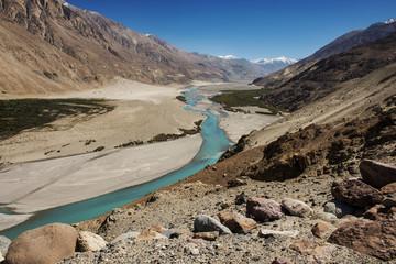 Shyok river in Nubra valley Ladakh ,Jammu & Kashmir, India
