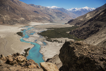 Shyok river in Nubra valley Ladakh ,Jammu & Kashmir