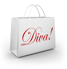 Diva Word Shopping Bag Spoiled Fashion Princess