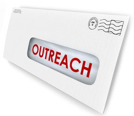 Outreach Word on Envelope Message Advertising Communication