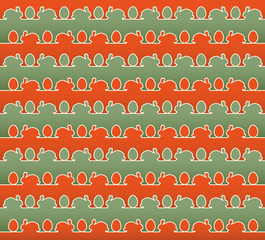 Repeating Easter packing and background design
