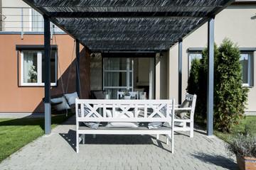 Summer house in the garden