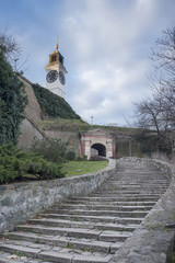 The Clock Tower, distinctive landmark of Petrovaradin fortress,