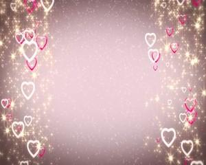 сердца  гламурные