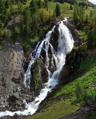 водопад Кокколь (высота 80 м, ширина 10 м.), Алтай