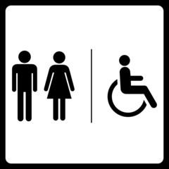 Restrooms symbol sign